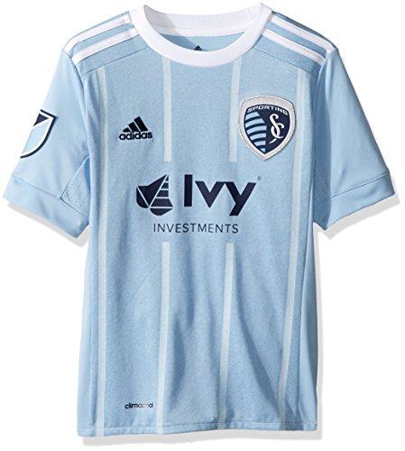 MLS Sporting Kansas City Youth Unisex Replica Wordmark s/jersey, Light Blue, Medium