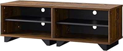 朝日木材加工 テレビ台 industa 50型 幅115cm ブラウン 積み重ね可 IDM-4012SH-OP