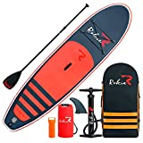Rokia R 10.6 Feet Inflatable SUP Stand Up Paddle Board (6 Inches Thick) iSUP for Fitness, Yoga, Fishing on Flat Water, Orange