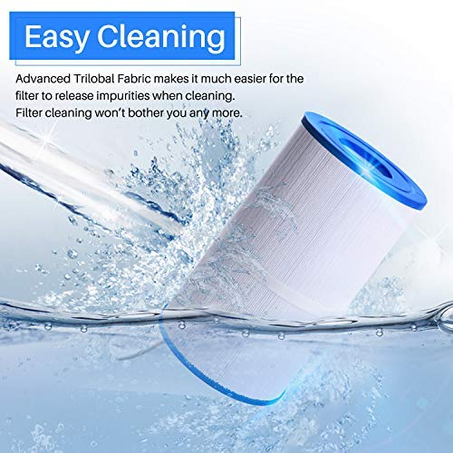 POOLPURE Spa Filter Replaces Pleatco PRB35-IN, Unicel C-4335, Guardian 409-219, Filbur FC-2385, 03FIL1300, 17-2482, 25393, 303557, 817-3501, R173431, 35 sq.ft, 5 X 9 Drop in Hot Tub Filter, 1 Pack