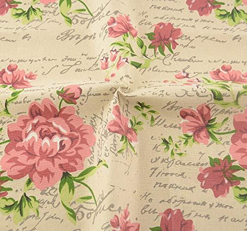 Tela para costura o tapizar vintage flores inglesas al corte por metros. 1 unidad es 0.50 m. x 1.45 m 2 unidades 1 m x 1.45 m. cortinas, colchas, cojines, caravanas, renovar tus sillas. de CHIPYHOME