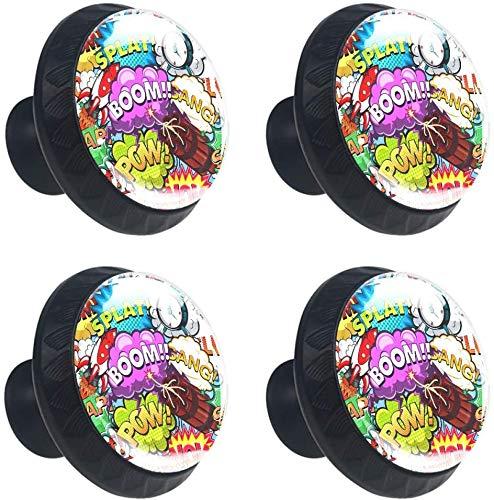 Boom Bubble Cohete Alarma Pandilla Estilo magnífico gabinete de cerámica perillas Tire manijas para Muebles Armario cajón Armario Cocina baño