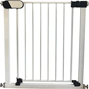 Walk Through Bottom Stairs Extra Wide Baby Pet Isolation Barrier With Dual Lock Pressure Mount Safety Gates For Bottom Top Stairs Doorways Fence Color High76 width Size 89-96cm