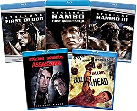 Sylvester Stallone 5-Film Blu-ray Collection: First Blood / Rambo: First Blood Part II / Rambo III / Assassins / Bullet to...