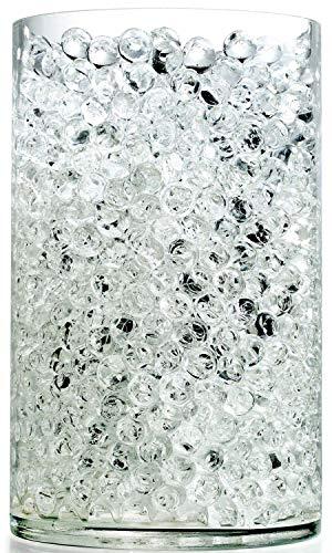 NOTCHIS Upgraded 20,000 Vase Fillers Clear Big Water Gel Beads, Floral Beads Gel Bead, Clear Water Pearls Vase Filler Bead for Wedding Centerpiece Decoration, Floral Decoration