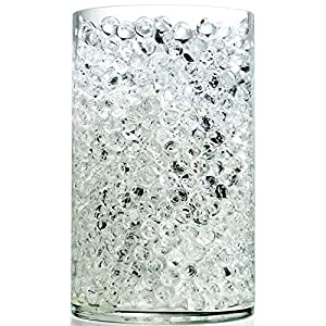 NOTCHIS Upgraded 20,000 Vase Fillers Clear Big Water Gel Beads, Floral Beads Gel Bead, Clear Water Pearls Vase Filler Bead for Wedding Centerpiece Decoration, Floral Decoration