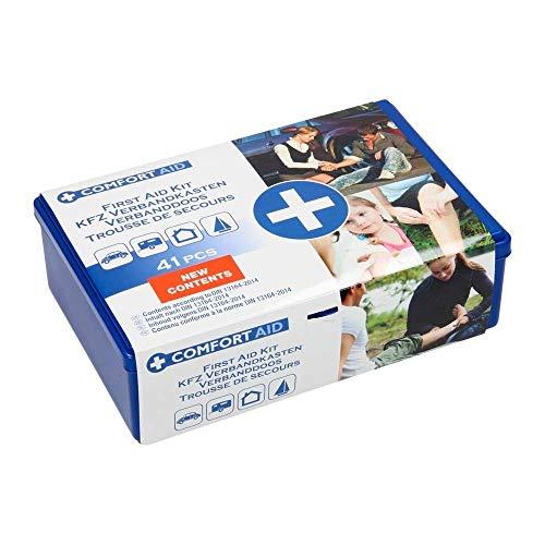 TrAdE Shop Traesio- Scatola Primo Pronto Soccorso Kit 41 Pezzi Box PLASTICA Viaggio Emergenza Auto