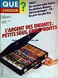 QUE CHOISIR [No 165] du 01/09/1981 - TESTS - LES COUCHES POUR BEBES - LES PLATINES...