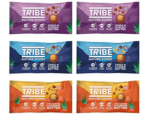 TRIBE Protein Balls - Mixed Bundle - Vegan, Gluten & Dairy Free, Protein Nature Bombs (12 x 40g)