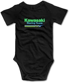 Ioagdaazz Kawasaki Racing Team Lovely Baby Onesies for Baby Black 12M