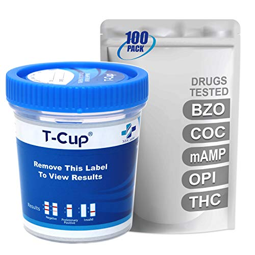 Buy MiCare [100pk] - 5-Panel Multi Drug Test Cup (BZO/COC/mAMP/OPI/THC) #MI-TDOA-654