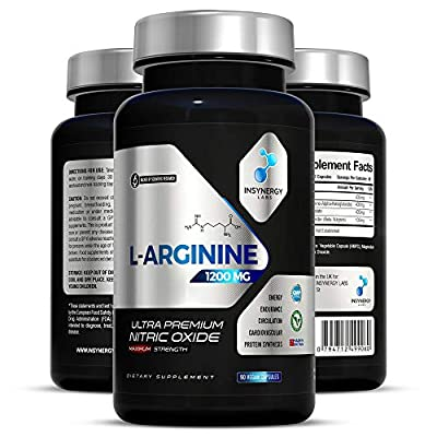 Ultra Premium Nitric Oxide Supplement 1200mg | Highest Strength L Arginine Capsules in The UK | Muscle Growth Circulation Vascularity | Pre-Workout for Men Women | 90 L-Arginine Vegan Capsules