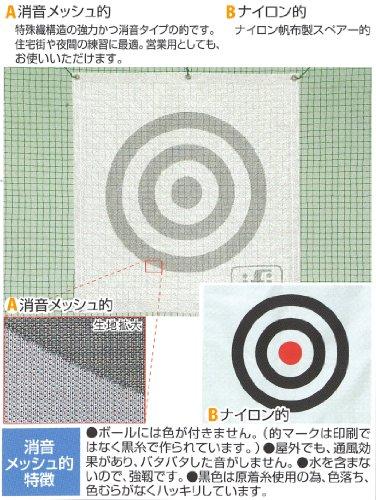 ゴルフ的(消音・防炎糸使用 メッシュ的 1×1) サイズ:0.85m×0.9m