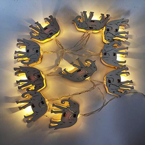 YLSMN Geführte hölzerne Kunst hohle Weihnachtsbaumbeleuchtungsrauminnendekorationbatterielicht kreative anredende Lichterkette stimmungslicht