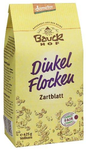 Bauckhof Dinkelflocken, Zartblatt, 12er Pack   (12 x  425 g Packung) - Bio