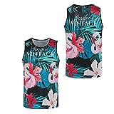 Yener Verano Baloncesto Malla Chaleco Novedad 3D Estampado de Flores Culturismo Camisetas sin Mangas Fitness Sportwear Gimnasios Camisa sin Mangas