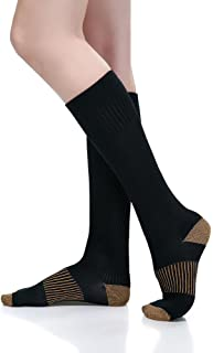 ComfortGear Performance Enhancing Therapeutic Full Length Compression Socks, 10-20 mmHg, Anti-fatigue, Graduated Compression Action (7-9 Men's/8-10 Women's)