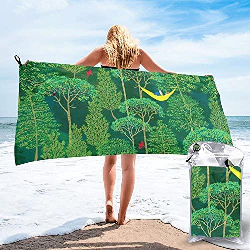 Toalla de Playa de Microfibra de Bosque Esmeralda de Lost Good Book Toalla de Piscina de Viaje Ultra Suave de Secado rápido para Mujeres Hombres Adultos