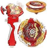 Red Sparking String Launcher Grip Starter Set Bey Burst Evolution Turbo Battling Top Blade God Bey SuperKing B-172 Booster World Spriggan Unite 2B Attack Gyro Bay Gaming Top Spinning Toy Gift for Boys