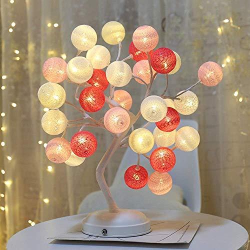 BJLWTQ Regalo de cumpleaños de Navidad de la Bola de la Guita de la decoración LED Atmósfera lámpara de Mesa de Noche Dormitorio Embalaje Estudio Regalo de la lámpara compartida