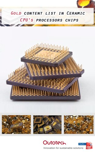 Gold content list in Ceramic CPU's processors chips (English Edition)