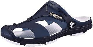 Zuecos de Verano Antideslizante Sandalias de Playa Verano para Hombres Zapatillas Ligeros Respirable Zapatos Verano Las Sa...