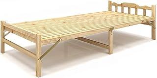 GuanBed Diseño Simple Cama Tatami Económico Moderno Alquiler de Habitaciones Habitación Individual Lazy Pine Cama Plegable de Madera Cama Plegable Muebles para el hogar Portátil
