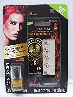 Covergirl The Hunger Games Catching Fire Capitol Collection Nail Art Stickers - 105 Tawny Flame (600 Sulfur Blaze)