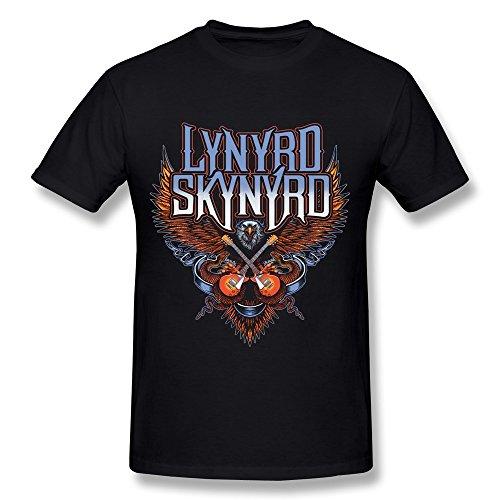 Eleanore Grace Men'S Lynyrd Skynyrd Band Logo T-Shirt- Black