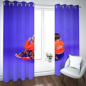 Crib Bedding And Baby Bedding Sdsoniu - Nursery Curtains - Girl Blue Art 140X100Cm Drapery For Bedroom Thermal Insulated Nursery Essential Night Sleep Enhancing Window Treatment For Kid'S Room