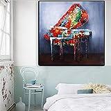 JRLDMD lienzos Cuadro Piano Graffiti Art Poster and Prints Street Art Cuadros de Pared para Sala de Estar Quadro Piano Cuadros de decoración del hogar 60x90cmx1 Sin Marco