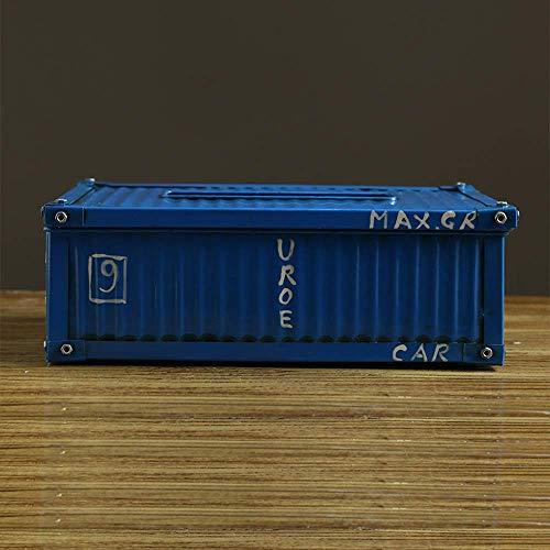 YYhkeby Tenedor de Cubierta de contenedor Creativo, Soporte de servilleta Industrial de Hierro Fundido Antiguo de Viento, portátil Jialele (Color : Container)