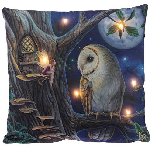 Decorative LED Cushion - Lisa Parker Fairy Tales Owl and Fairy-CUSH211