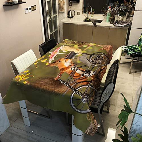 sans_marque El mantel se puede limpiar con paño de mesa de plástico para limpiar la mesa de comedor rectangular impermeable cubierta protectora de cocina picnic al aire libre interior 60 x 60 cm