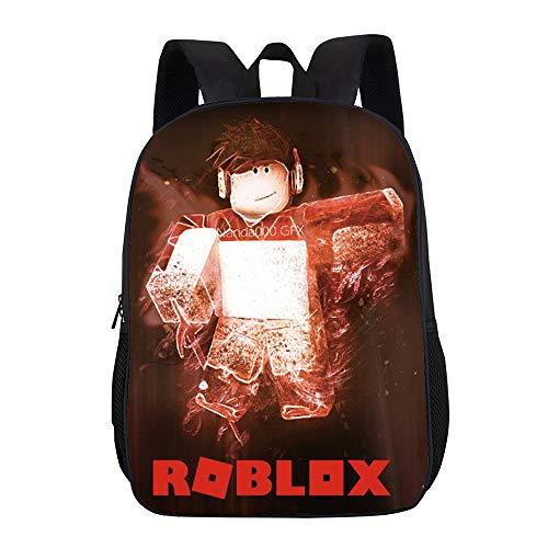 Roblox Fashion Cute Printing Children Primary School Backpacks Children Bookbag for Boys and Girls Kids (Color : Black02, Size : 31 X 16 X 44cm)