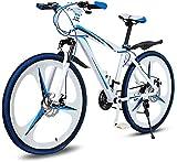 RDJM Bici electrica Plegable bicicleta de montaña, bicicletas de montaña de 26 pulgadas Hombres de velocidad variable de bicicletas, bicicletas de doble absorción de choque, seguro y rápido el mejor t