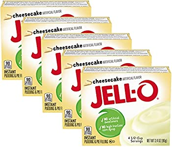 Jell-O Instant Pudding & Pie Filling Cheesecake Flavor 3.4-Ounce Boxes  Pack of 5