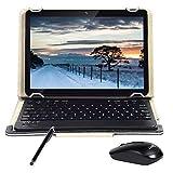 Android Tablet 10 'Quad-Core-Prozessor 4 GB RAM und 64 GB Tablet PC WiFi-Speicher GPS-Kamera und Zwei Kartensteckplätze (3G Schwarz)