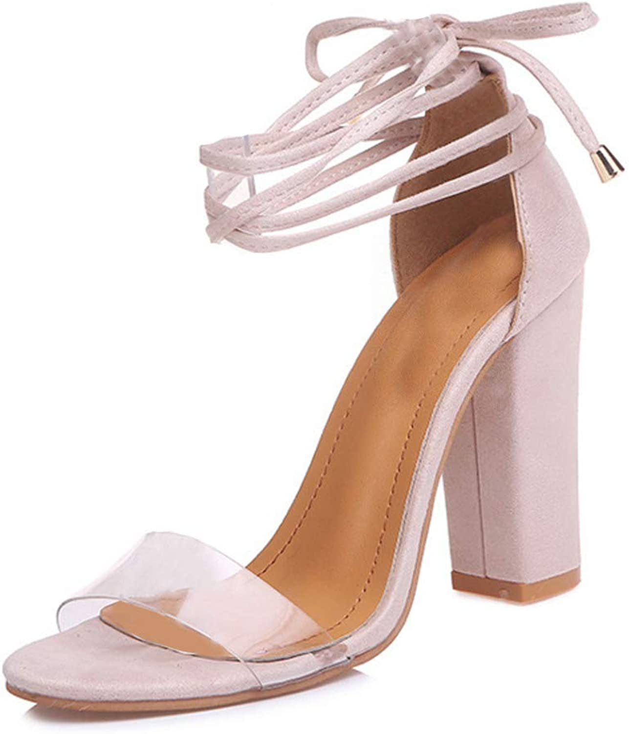 Huicai Women's Fashion high-Heeled Sandals Party Transparent Sweet Fashion shoes