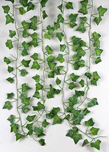 RayLineDo 2M 6.6 Feet Artificial Ivy Fake Foliage Leaf Flowers Plants Garland Garden Decoration 2M (Sweet potato leaf)