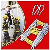 Gaowf emergencia incendios escalera cuerda, la seguridad resina suave escalera de cuerda, fácil de instalar y sencillo de desmontar para adultos y niños, peso hasta 200kg (size : 12m)