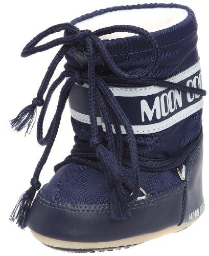 Moon Boot Mini Nylon, Chaussures bébé mixte enfant - Bleu (Blu), 22 EU