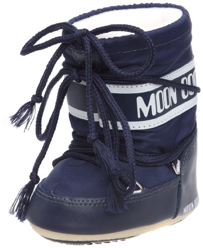 Tecnica MOON BOOT MINI NYLON BLU, Baby Jungen Stiefel, Blau (Blue 002),  EU 19-22 (UK 3/5,5)