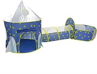 FDY lektunnel barntält-tunnel med tunnel kollage Crawling Games hus barn tält Indoor Outdoor vikbar förvaringsväska bärbar...