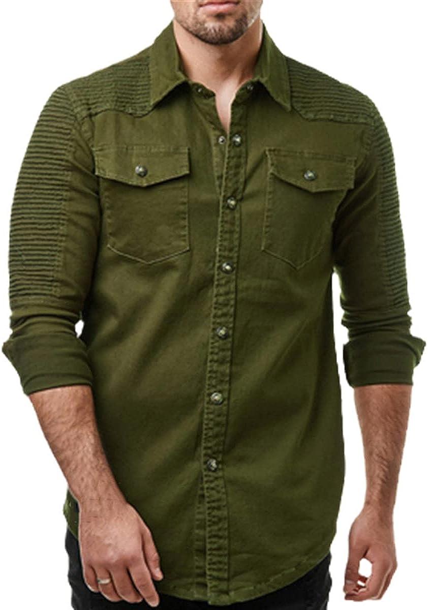 Spring and Autumn Men's Shirts Long Sleeve Men's Shirts Pure Cotton Pure Color Shirts Casual