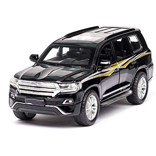 Outdoorking Modelo Coche 1: 32 Diecast Aleación Coche para Toyota para Terrenos para el crucero Modelo de coche Modelo Off- Road Vehículo Tirar de la carretera Luz de sonido T- Oy Coches Boys Niños p