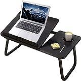 Uniguardian Mesa plegable para ordenador portátil para cama, mesa para ordenador portátil, para leer o desayuno, con soporte para bebidas