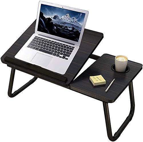 Uniguardian Mesa plegable para ordenador portátil para cama, para leer o desayunar, con soporte para bebidas