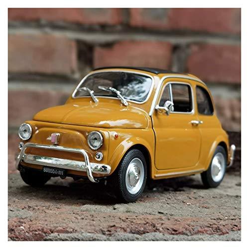 BECCYYLY Diecast Model Car 1:18 para Fiat 500 Aleación Off-Road Alloy Retro Car Modelo Diecast Vehículo Classic Car Modelo de Coche Decoración de Coche Regalo (Color: Amarillo) wmpa (Color : Yellow)