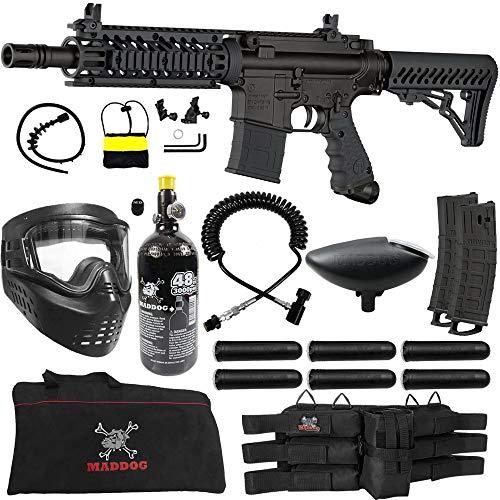 Tippmann TMC MAGFED Corporal HPA Paintball Gun Package - Black/Black